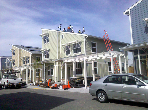 Green homes being constructed in Oakland, California