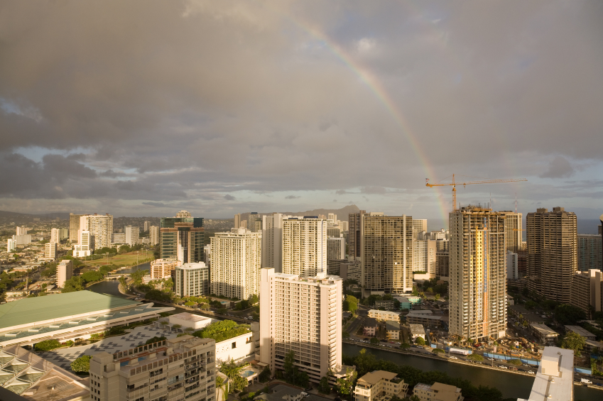 Waikiki Double Rainbow