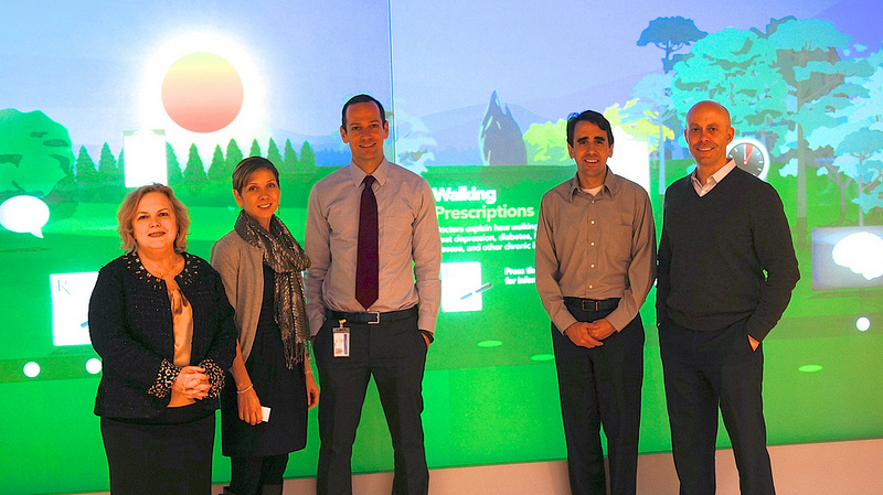 USGBC staff visiting the Kaiser Permanente Center for Total Health