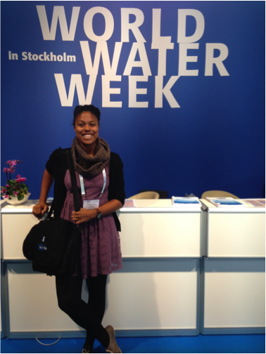 The author enjoying the World Water Week conference.
