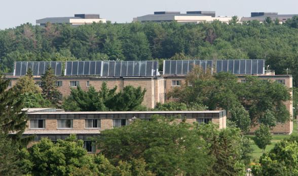 Solar panels at University of Wisconsin-Stevens Point (Image courtesy UWSP).