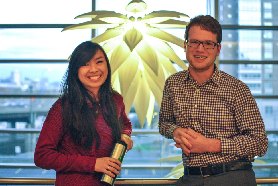 Sustainability@BU interns, Lindsey Chew and Ryan Peters.