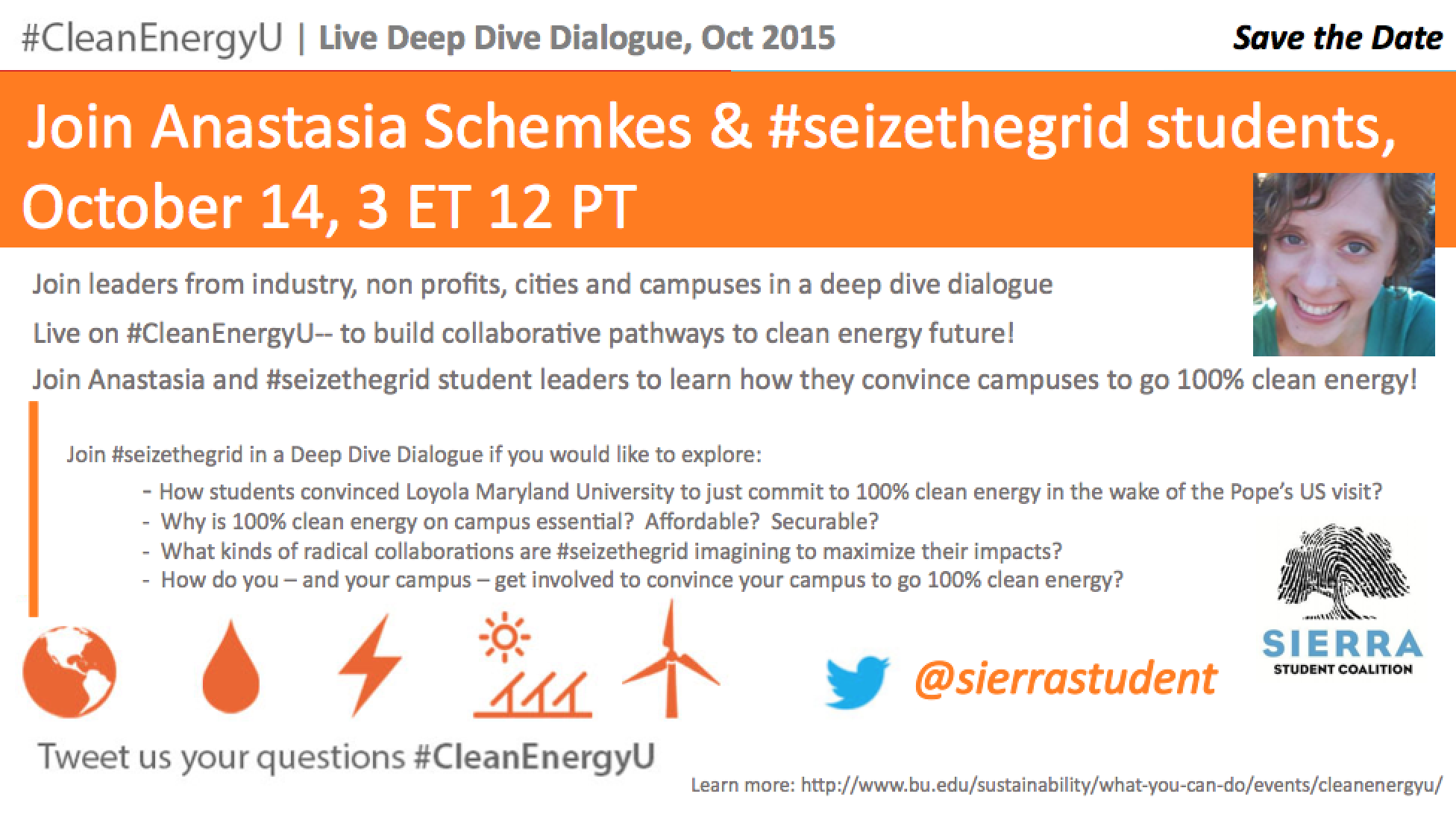 Join #Seizethegrid for #CleanEnergyU Deep Dive Dialogue Oct 14 3ET12PT