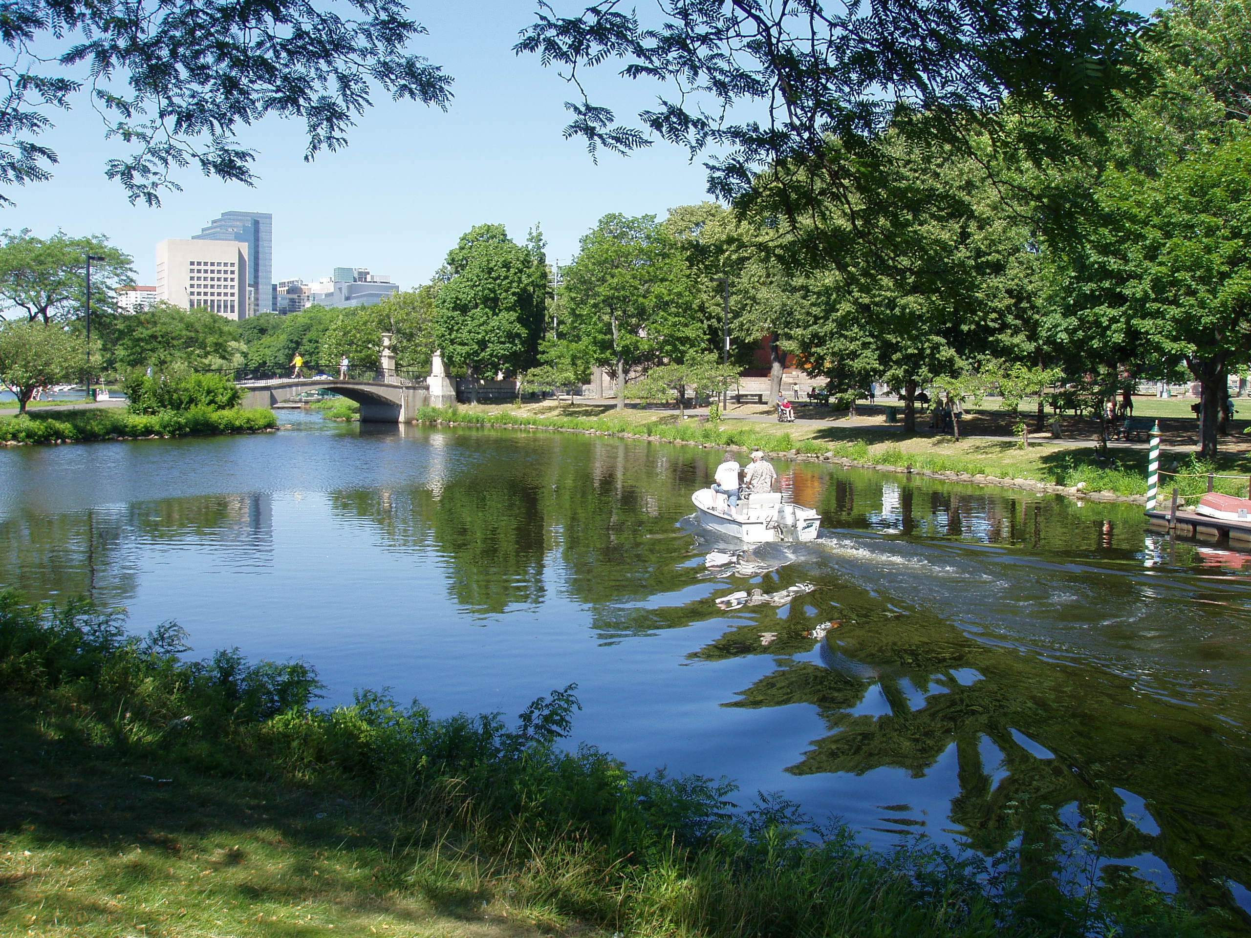 Charles River Esplanade, part of the Emerald Necklace in Boston.