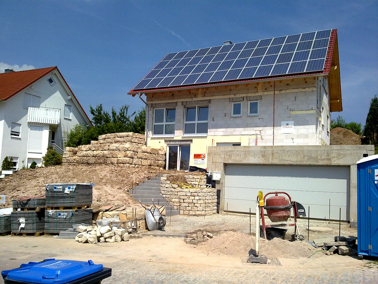 A passive house under construction [Image courtesy of Kebony].